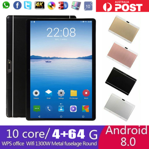 "10.1"" WiFi Tablet Deca Core Android 8.0 4+64GB GPS Bluetooth 4.1 Camera Phablet"