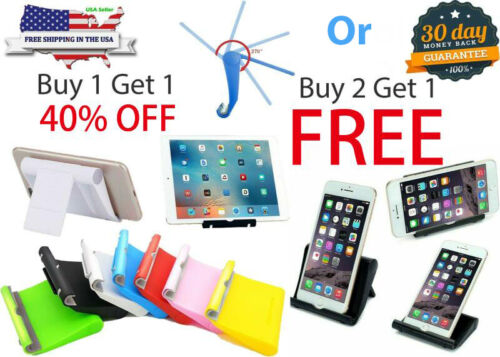 Smart-Phone Fordable Desk Stand Holder Mount Cradle Dock iPhone Galaxy Switch