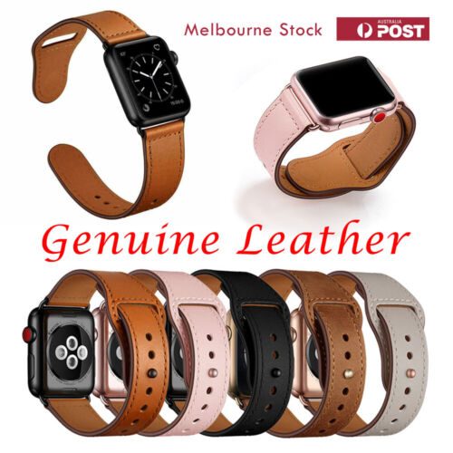 Genuine Leather Strap iWatch Band for Apple Watch Series 6 5 4 3 2 1 SE 40mm 44