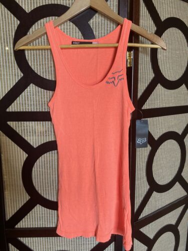 BNWT Fox Racing Miss Clean Tank/singlet Size Large Coral