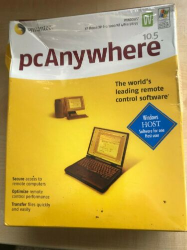 Symantec pcAnywhere 10.5 Windows Remote control software HOST