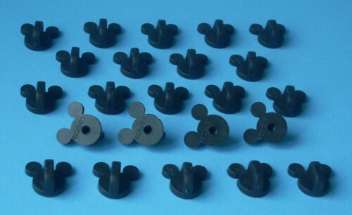 100 Quality Firm Gripping Disney Pin Trading Mickey Head Rubber Pin Backs