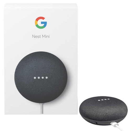 GOOGLE HOME NEST MINI 2 NERO SMART SPEAKER ASSISTENTE VOCALE VIRTUALE ITALIANO