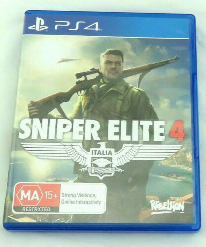 Mint Disc Playstation 4 Ps4 Sniper Elite 4 IV ITALIA Italy - Free Postage