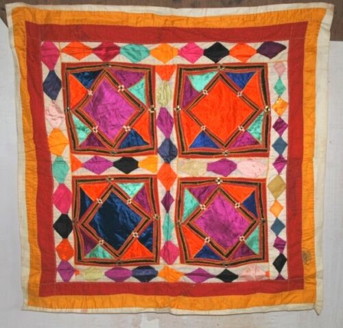 """Old Indian Traditional Home  Wall Decor Hand Patch Work Tapestry Full Size 29"""""""