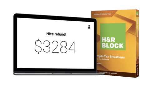 H&R Block Tax Software Basic Simple tax Situations