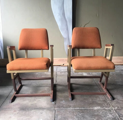 Frank Lloyd Wright Chairs ,PAIR ,From the Kalita Humphreys Theatre 1958,SIGNED