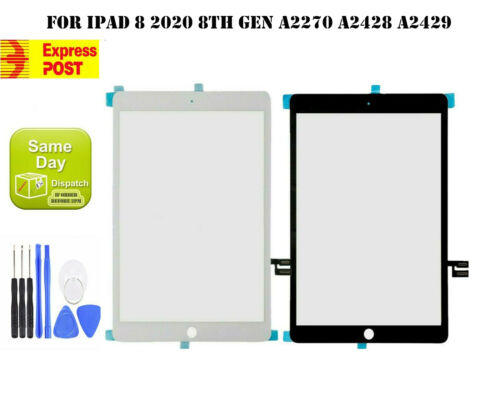 For iPad 8 2020 8th Gen A2270 A2428 A2429 TOUCH SCREEN DIGITIZER REPLACEMENT