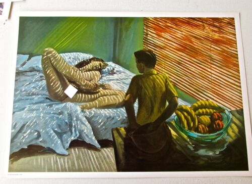 Eric Fischl  Poster of Bad Boy 1988 Unsigned Offset Lithograph 17X12 Erotic Art