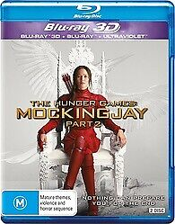 The Hunger Games Mockingjay Part 2 3D & 2D Blu-ray New & Sealed