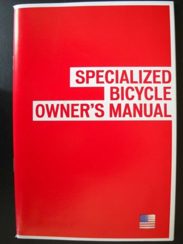 **SPECIALIZED BICYCLE OWNERS MANUAL INCLUDING CD, INFORMATION FOR MOST BIKES#2*