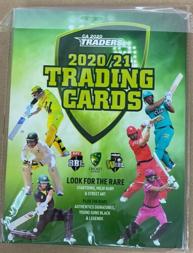 2020 / 21 CA Cricket Traders Official Album and FULL Base Set (156 Cards)Cricket Cards - 25579