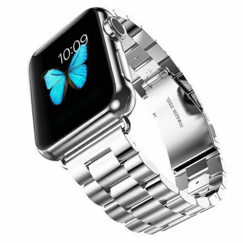 38/40mm Silver For Apple Watch Strap Series 6/5/4/3/2/1 Stainless Steel Band