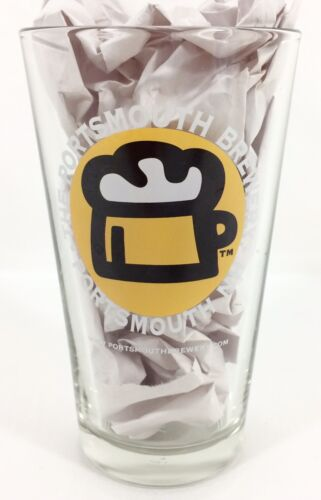 Portsmouth Brewery NH Beer Pint Glass Vtg Libbey Craft Drinking New Hampshire