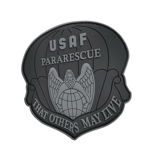 that others may live blackout USAF pararescue PVC rubber parche hook patchParches - 4725
