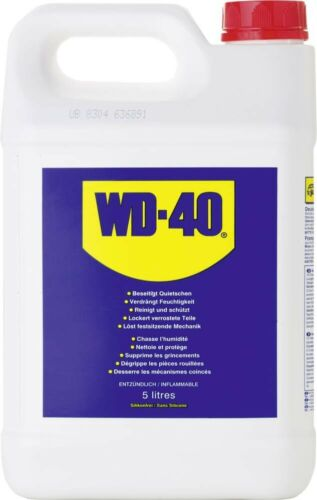 WD40 5 LITRE TRADE SIZE MULTIPURPOSE LUBRICANT (NO SPRAY APPLICATOR INCLUDED)