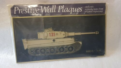 LAST ONE! PRESTIGE Wall Plaques - TIGER 1 TANK Gold outlines German 131 panzer1939 - 1945 (WWII) - 13977