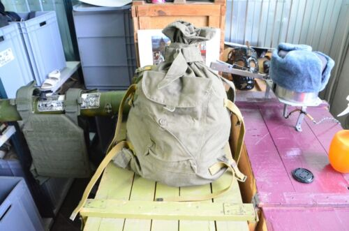 USED Genuine Russian Army Military Canvas Duffle Bag , Backpack VeshmeshokOriginal Period Items - 13983