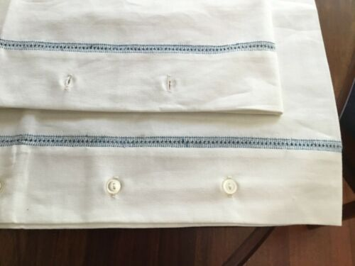 Vintage Pillowcases Linen Big Unused