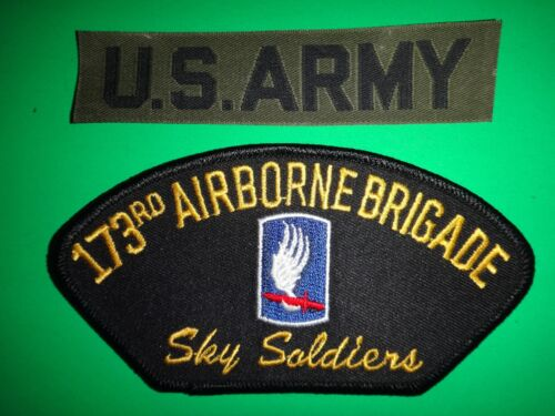 US ARMY Pocket Tape And US 173rd AIRBORNE Brigade SKY SOLDIERS Iron-On Patch Army - 66529