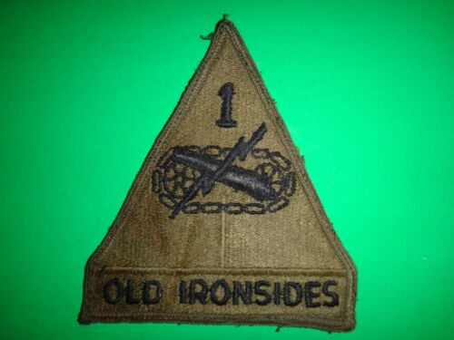US Army 1st ARMORED Division OLD IRONSIDES Subdued PatchPatches - 104015