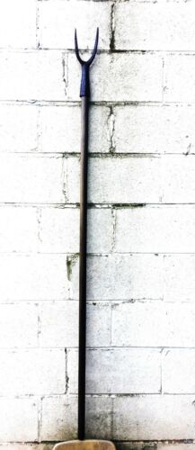 RARE ANTIQUE FRENCH HALBERD MILITARY BATTLE FORK SPEAR POLEARM NO SWORD