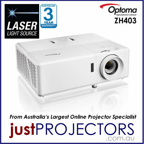 Optoma ZH403 FULL HD Laser Projector from Just Projectors 3 Year Warranty