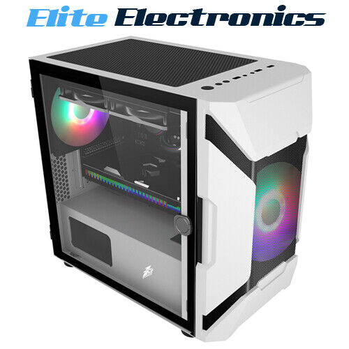 1st Player D3-A DK Series Micro ATX Tempered Glass Gaming Case White