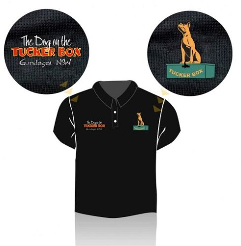 The Dog on The Tuckerbox Polo Shirt - size 4XL