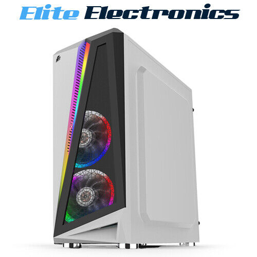 1st Player Rainbow R5 ATX RGB Tempered Glass PC Gaming Case White