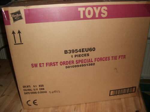 Star Wars 1 Order special Forces Tie Fighter Hasbro black series