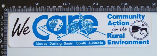 VINTAGE CARE COMMUNITY ACTION RURAL ENVIRONMENT MURRAY DARLING PROMO STICKER