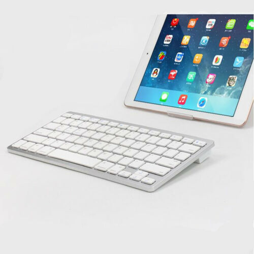 Super Slim Bluetooth Keyboard For PC/ Laptop /Tablet/Phone with Stand 10m Range