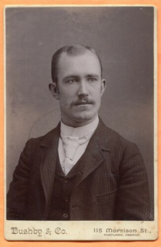 Portland, OR, Portrait of a Young Man, by Bushby & Co., circa 1890