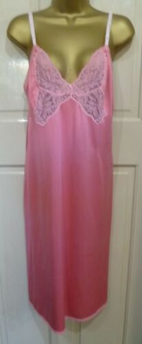 VINTAGE STYLE CHARNOS HAND DYED DUSKY PINK SILKY THICKER NYLON FULL SLIP 18- 20