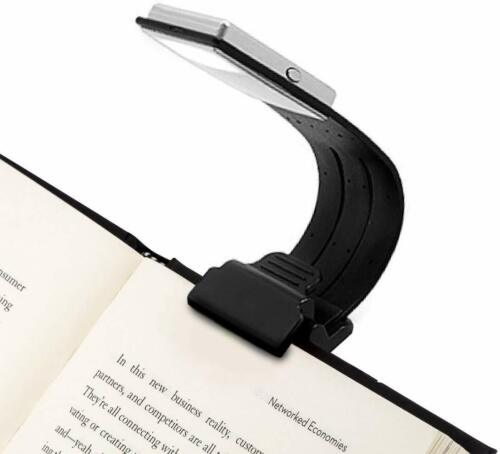Book Light Clip On USB Rechargeable Reading Lamp Eye Care Flexible 4 Lvl Dimmabl
