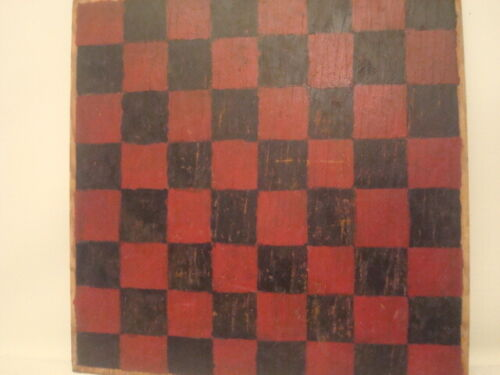 """15"""" Two Sided Antique Vintage Checker & Chinese Checker Wood Board / Nice Patina"""
