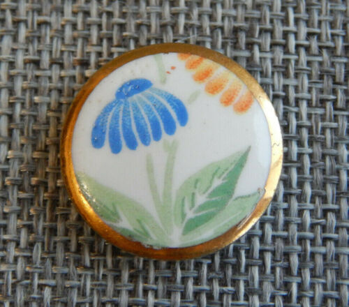 "Antique Vtg Kutani Japanese Hand Painted Button ~Apx:7/8""~#629-A"