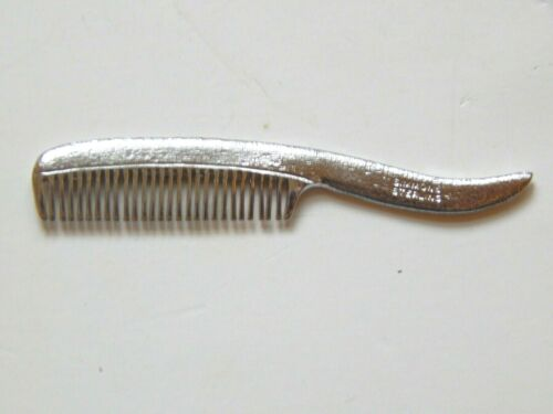 VINTAGE SIMMONS STERLING SILVER  MUSTACHE COMB W/ LEATHER POUCH