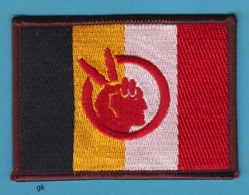 AMERICAN INDIAN MOVEMENT AIM TRIBAL FLAG   SHOULDER PATCH