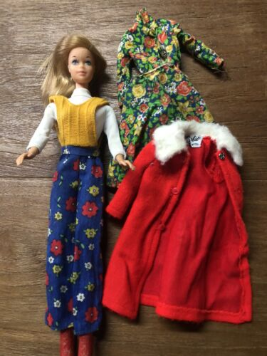 Vintage Barbie Doll with clothes 1970's - 80's