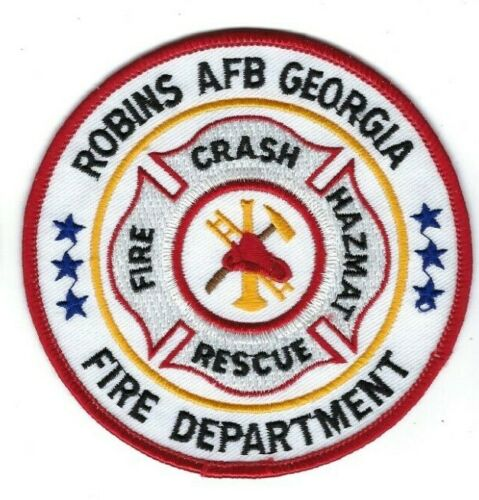 USAF Robins AFB GA Georgia Fire Crash HazMat Rescue *RED BORDER* patch - NEW!
