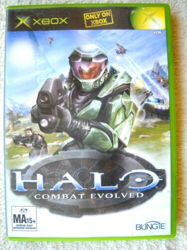 **XBOX HALO GAME COMBAT EVOLVED WITH MANUAL AND CASE TESTED WORKING OK**