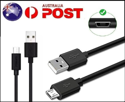 1M  Micro USB Charging Data Cable Cord Samsung Galaxy S7 S6 S5 S4 S3 (Black)AU