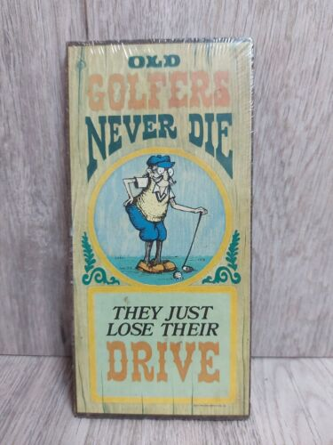 """Wallace Berries And Company Vintage 1974 Wall Plaque """"Old Golfers Never Die"""""""
