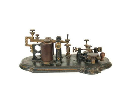 1872 Partrick, Bunnell & Co. Champion Key & Sounder * Scarce Telegraph Apparatus
