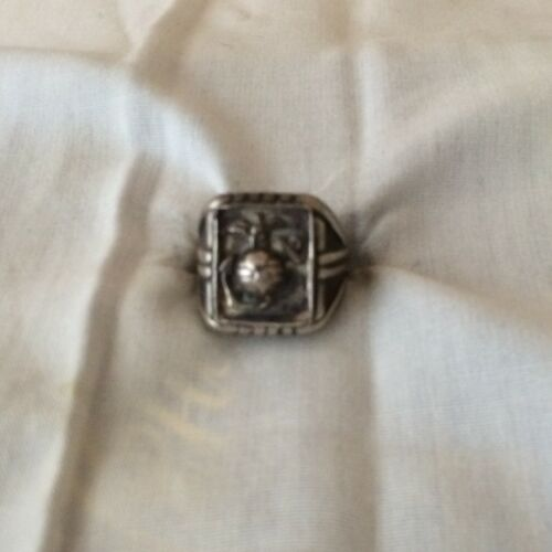 Vintage STERLING SILVER US MC ring size-9.     170Marine Corps - 66531