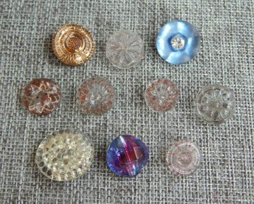 Lot of Antique Vtg Glass Buttons Some Painted Backs  #031-G