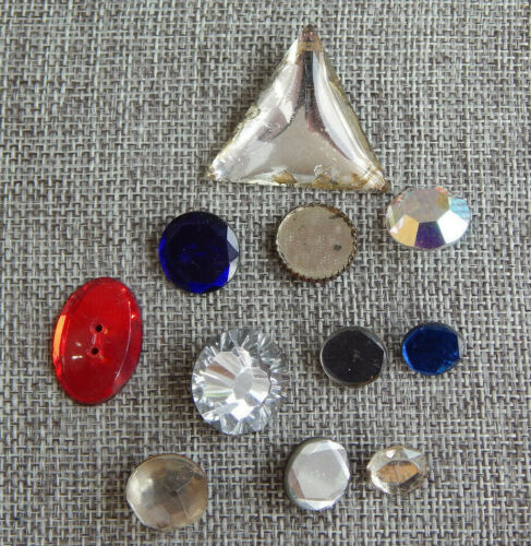 Lot of Antique Vtg Glass Buttons Mirrored #027-G