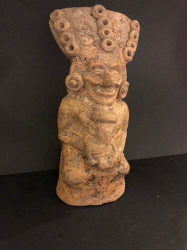 """PRE COLUMBIAN MAYAN AUTHENTIC 1,000+ YEAR OLD LARGE 7."""" TALL FERTILITY GOD"""